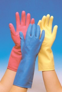 Save landfill waste by repairing rubber gloves!