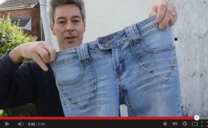how to mend a rivet on a pair of jeans