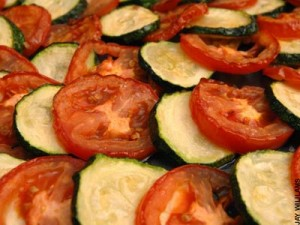 courgettes and tomatoes a zero waste meal
