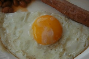 fried eggs for lunch