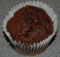 muffin in disposable paper case