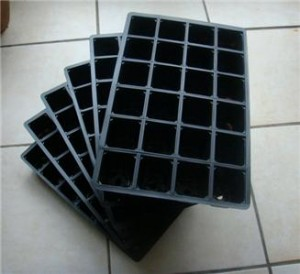 seedling tray made from non recyclable plastic