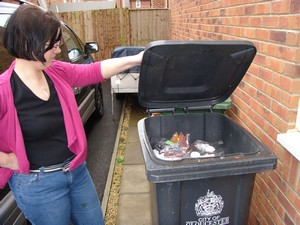 A typical fortnight's landfill waste before the challenge