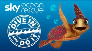 dive in and do it with sky ocean rescue - logey the turtle